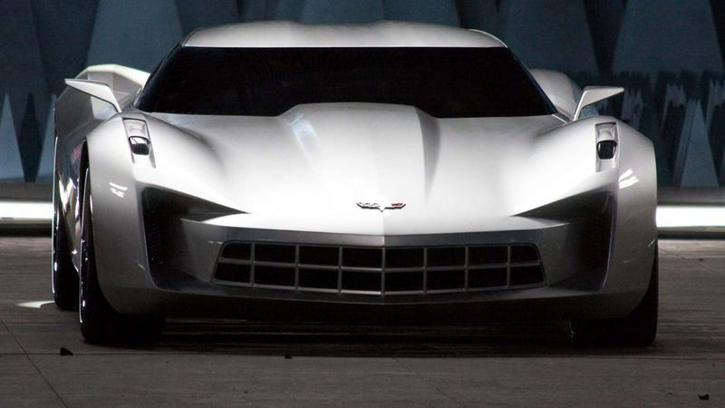 GM's 2009 Stingray concept. Not mid-engine. Photo Credit: GM