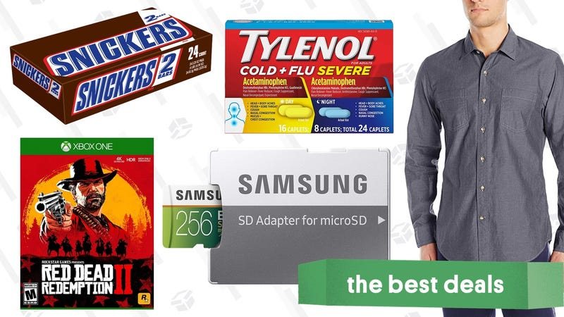 Illustration for article titled Sunday's Best Deals: MicroSD Cards, Red Dead Redemption 2, Cold Medicine, and More