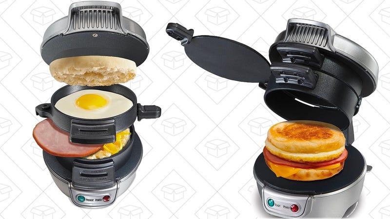 Hamilton Beach 25475A Breakfast Sandwich Maker | $20 | Amazon