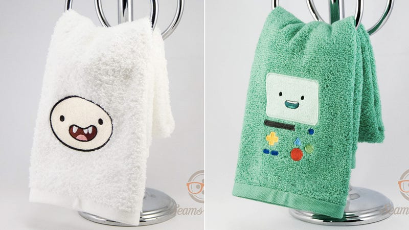 Illustration for article titled Who Would Ever Want To Dirty These Custom Adventure Time Hand Towels?