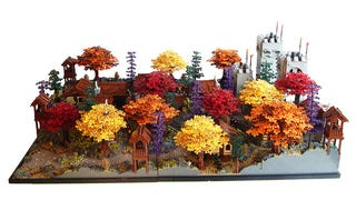 Illustration for article titled There's a Castle Hidden in the LEGO Autumn Foliage