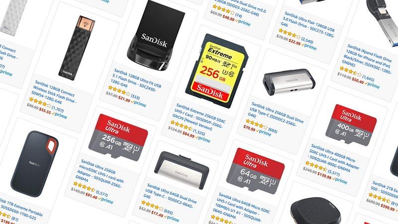 SanDisk Flash Storage Sale | Amazon