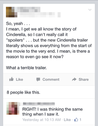 Illustration for article titled So this reaction to the new Cinderella trailer...