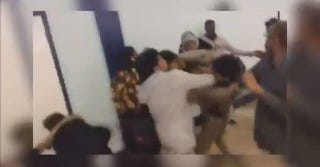 Screenshot of video of the fight at Central High School in Prince George's County, Md., on Dec. 16, 2016Fox5DC