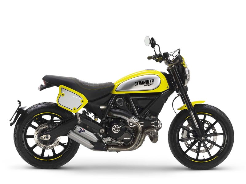 Illustration for article titled The Ducati Scrambler Flat Track Pro Is Here, Because Turning Things Into Trackers Is Hard