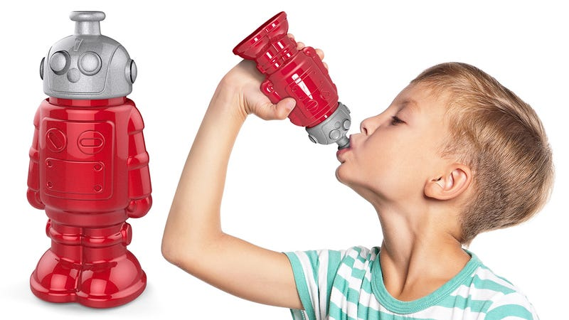 Illustration for article titled This Adorable Robo-Bottle Provides Cold, Calculated Hydration