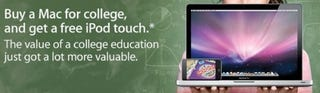 Illustration for article titled Apple 'Back to School' Deal Is Back: Free 8GB Touch With Any Mac