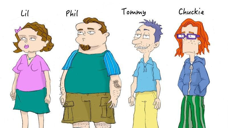 Illustration for article titled Rugrats artist depicts the ex-babies as dumpy, sad adults