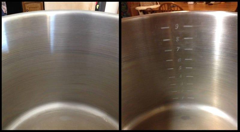 Add DIY Permanent Volume Markings on a Metal Pot