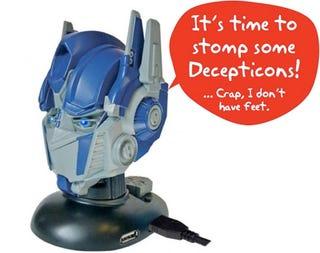 Illustration for article titled Optimus Prime USB Hub Speaks but Won't Stomp Across Your Desk