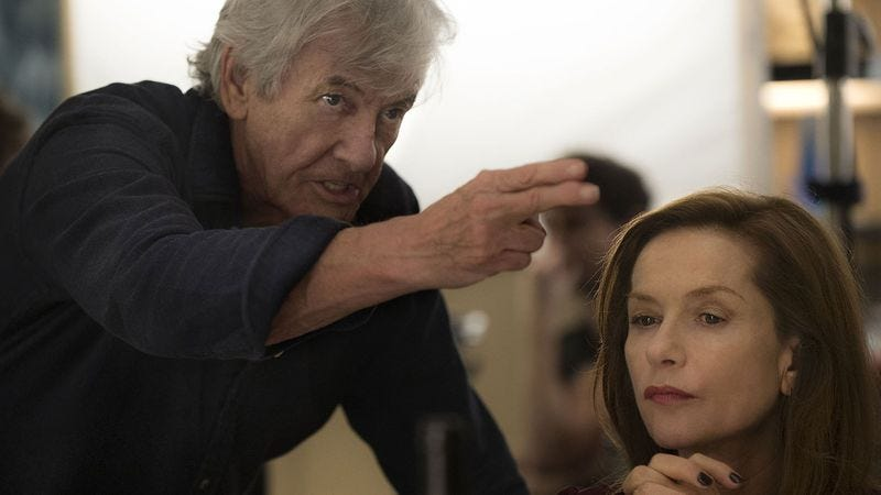 Verhoeven on the set of Elle. (Photo: Sony Pictures Classics)
