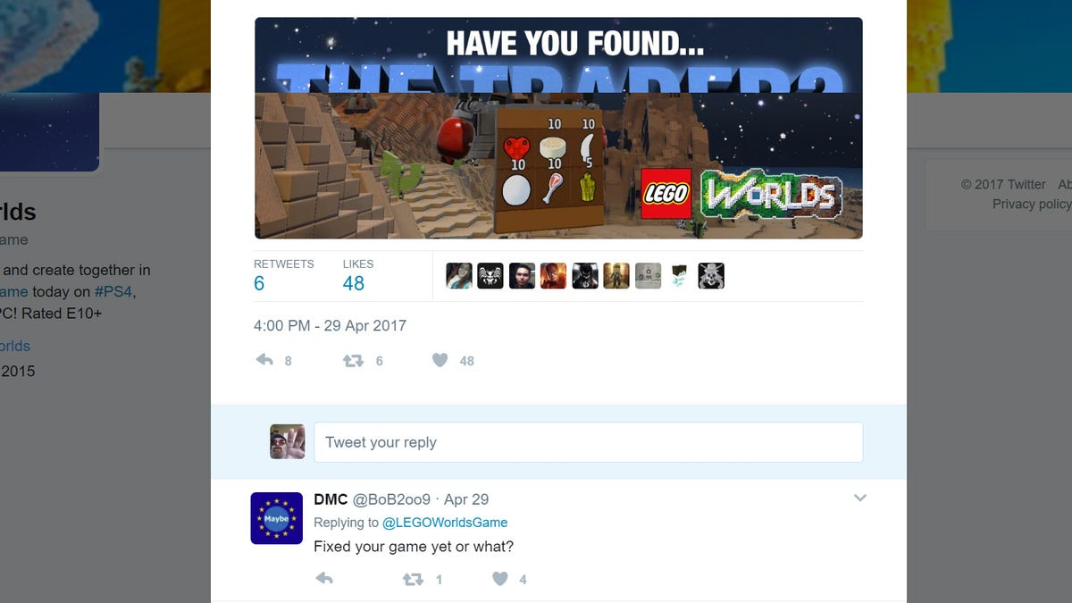 A Bug Has Been Killing Lego Worlds Save Files For Nearly Two Months