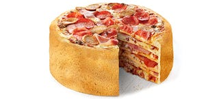 Illustration for article titled This pizza cake can change civilization FOREVER