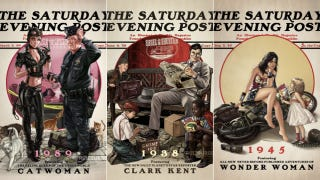 Illustration for article titled Superheroes Go Norman Rockwell In Adorable Saturday Evening Post Covers