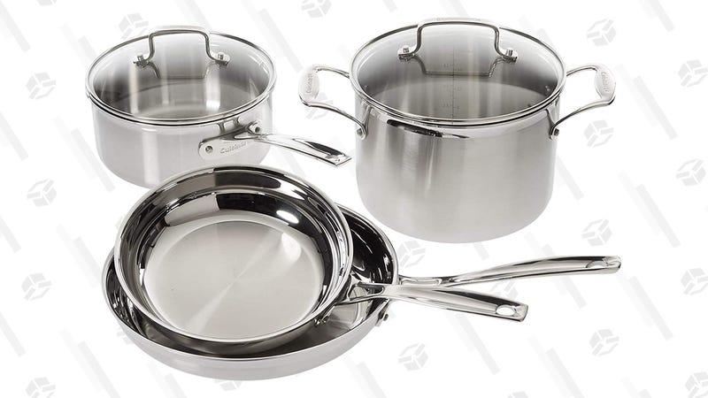 Cuisinart Multiclad Pro Stainless Steel 6-Piece Cookware Set | $110 | Amazon