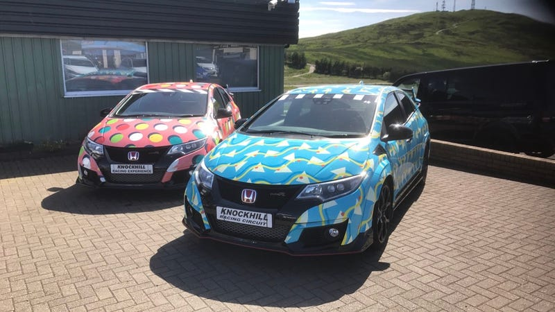 """Civic Type Rs in Scotland, from when I tried a """"Rally Driving Experience"""" at the beginning of summer."""