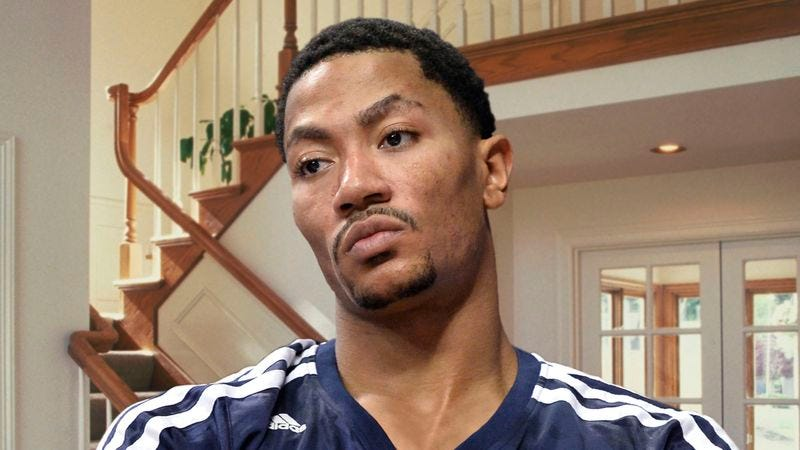 Illustration for article titled Friends, Family Say Derrick Rose Hasn't Said Single Word In Past 17 Days