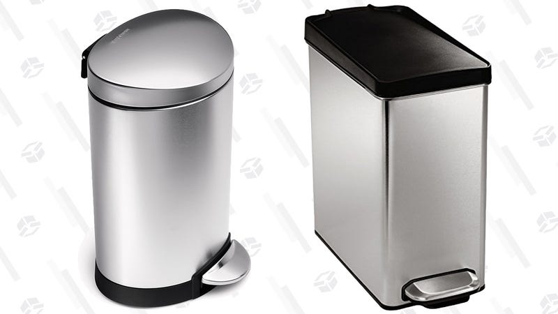 simplehuman 6L Rounded Bathroom Trash Can | $15 | Amazonsimplehuman 10L Bathroom Trash Can | $18 | Amazon