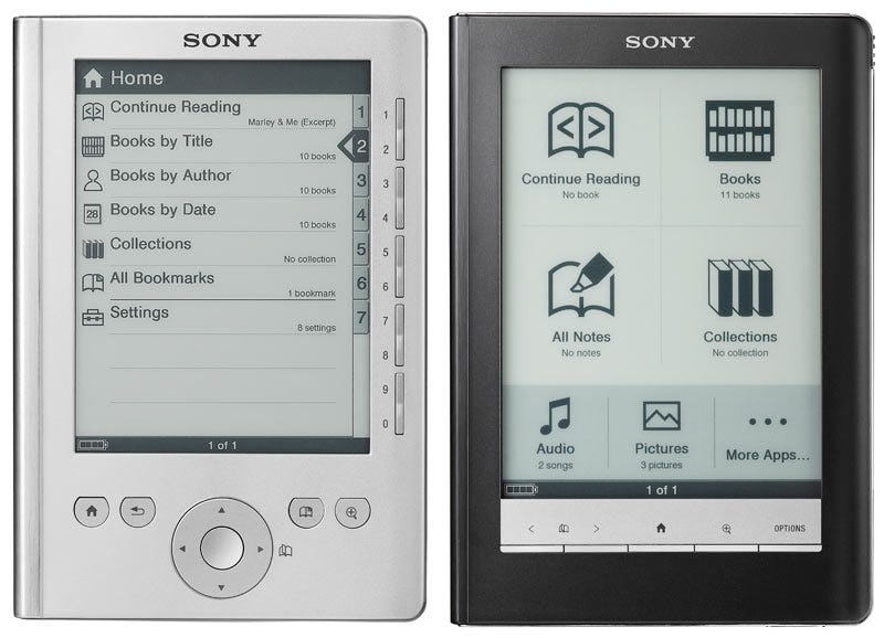 Illustration for article titled Sony's Pocket and Touch Ebook Readers Priced to Move; Promises Wireless Next