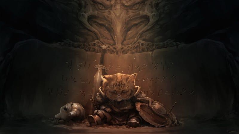 Illustration for article titled The Saddest Little Dragonborn in Skyrim