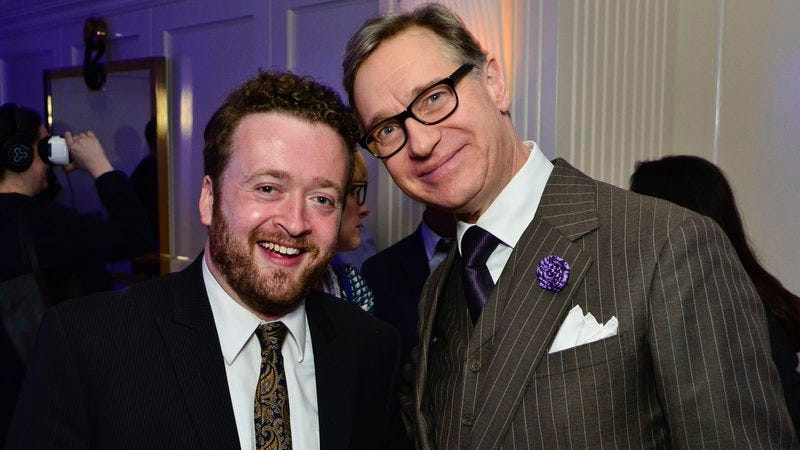 Is Neil Casey (left, with Ghostbusters director Paul Feig) a god? We don't know yet. (Image by: Getty Images)