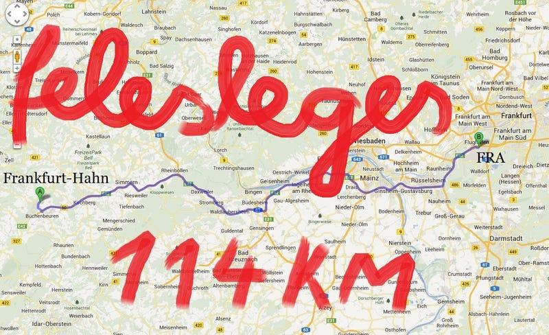 Illustration for article titled Jól gondold meg a fapadost, ha Frankfurtba repülsz