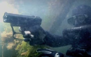 Illustration for article titled Scuba Diving In A War Zone? Better Bring Your Underwater Gun!
