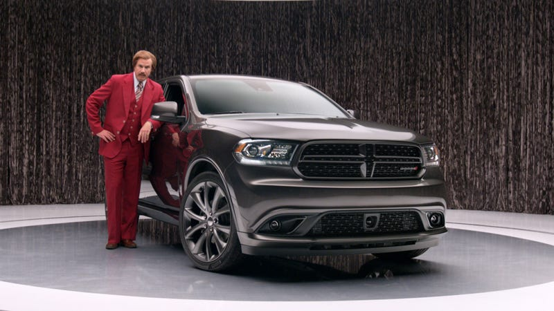 Illustration for article titled Will Ferrell Shot 70 Ads For The Dodge Durango As Ron Burgundy