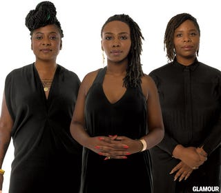 Black Lives Matter founders Patrisse Cullors, Alicia Garza and Opal TometiGlamour