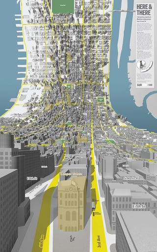 Illustration for article titled Manhattan Mapped Without a Horizon