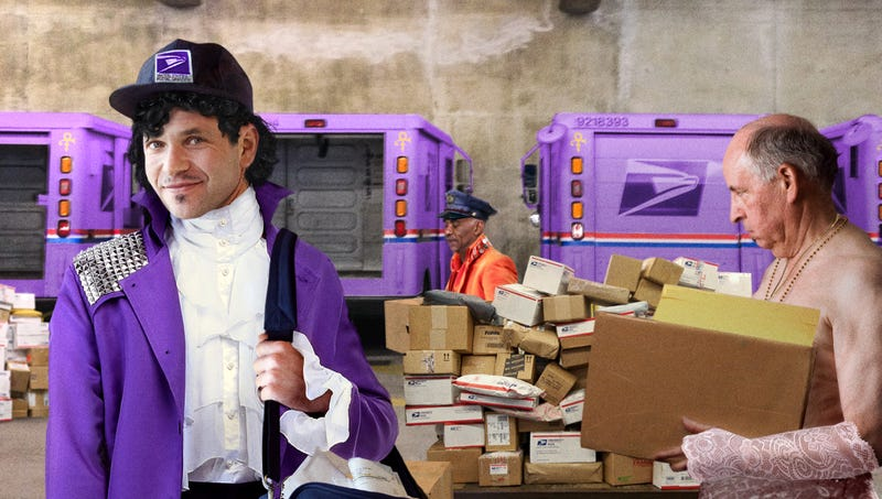 Illustration for article titled USPS Unveils New Line Of Commemorative Prince-Inspired Postal Workers