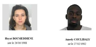 Two of the suspects in this week's terrorist attacks in ParisCNN screenshot