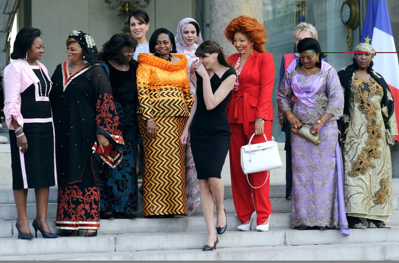 Illustration for article titled Fashion Forward: France's First Lady Carla Bruni Welcomes African First Ladies