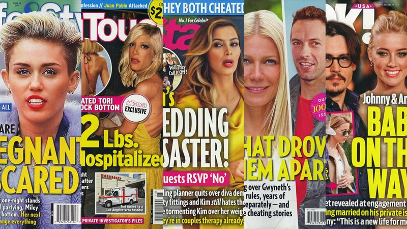 Illustration for article titled This Week in Tabloids: Miley Is Pregnant, Doesn't Know Who the Dad Is