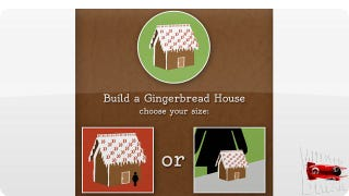 Illustration for article titled How Much Gingerbread Would You Need To Build Your Edible Dreamhouse?