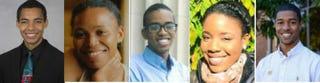 Tayo Sanders, Rachel Harmon, Ridwan Hassen, Sarah Yerima and Robert FisherRhodes Trust
