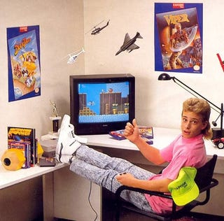A picture of me being awesome at video games and totally not an old NES ad.