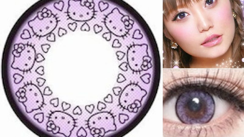 Illustration for article titled At Long Last, Hello Kitty Contact Lenses