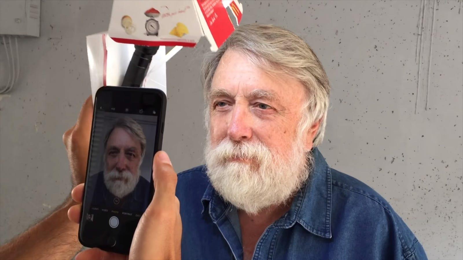 Light Smartphone Portrait Photos With a Big Mac Box