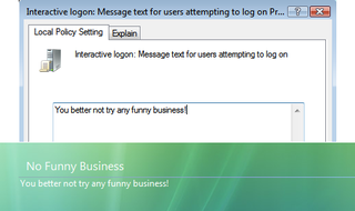 Illustration for article titled Create a custom logon message in Vista