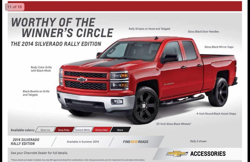 "Illustration for article titled The Silverado ""Rally Edition"" makes me sad"