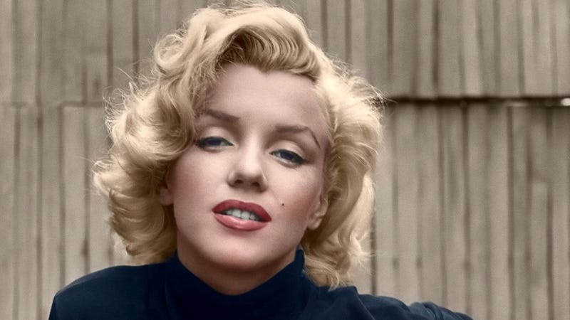 Marilyn Monroe en Hollywood (1953). La foto está coloreada, la original es en blanco y negro / Shorpy
