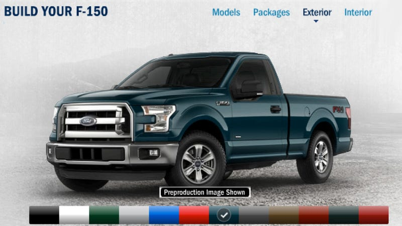 2015 ford f-150 configurator is online, show us how you'd spec yours