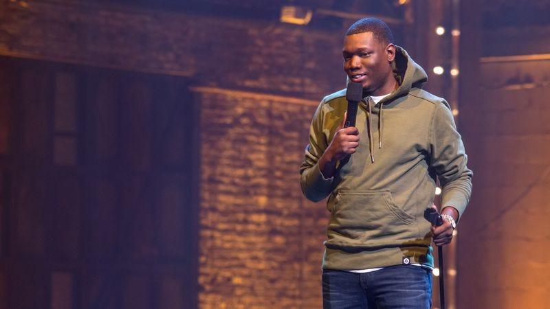 The comedian in his 2016 stand-up special Michael Che Matters (Photo: K C Bailey/Netflix)
