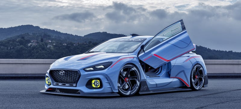 Illustration for article titled Hyundai's Incredible 374 Horsepower RN30 Racing Concept Is The Hoon-Day We Need