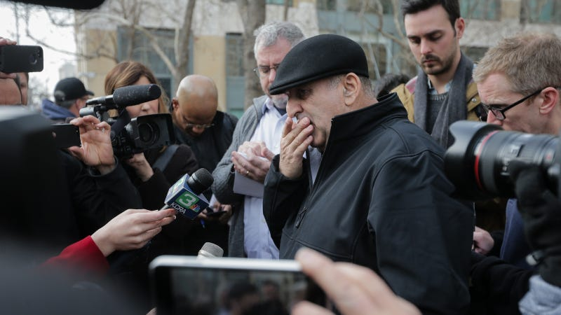 Al Salman speaks to the press following a court appearance by his niece Noor Salman on January 17, 2017 in Oakland, California.