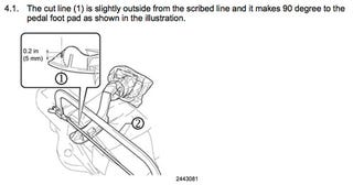 Illustration for article titled Latest Toyota Pedal Fix Involves Hacksaw, Bubble Wrap