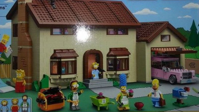 Illustration for article titled Upcoming Lego set makes the Simpsons look completely stoned for some reason