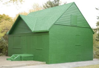 Illustration for article titled Real Life Green Monopoly House Won't Fit On Your Game Board