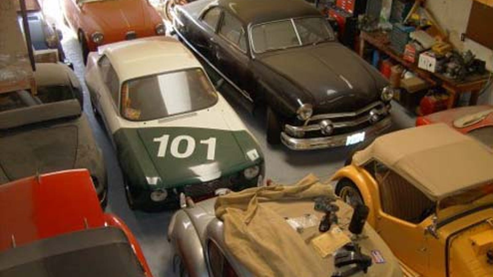 Warehouse Full Of Vintage Race Cars... And All But The
